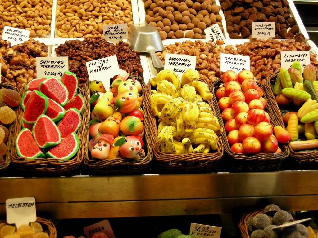 Tallinn Marzipan fruits at the market