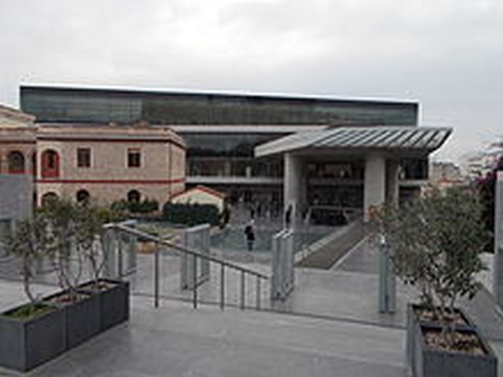Acropolis Museum Building in Athens