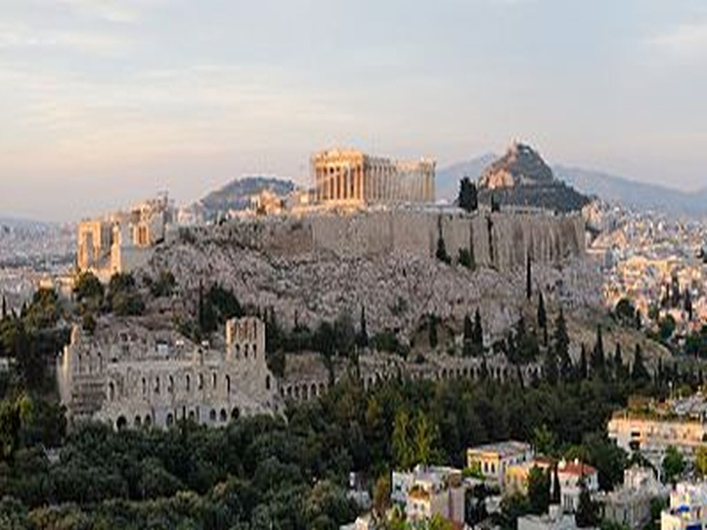 View of the Acropolis Athens